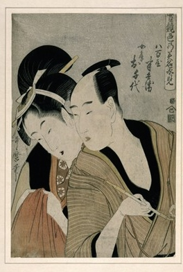 Utamaro: Hanbei and Ochiyo © British Museum