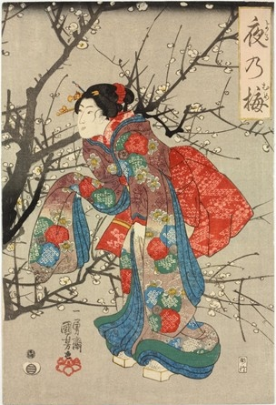 Utagawa Kuniyoshi - Plum Tree at Night © British Museum