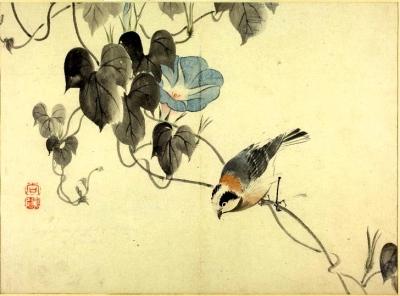 Koyo -Titmouse and Morning Glory © British Museum