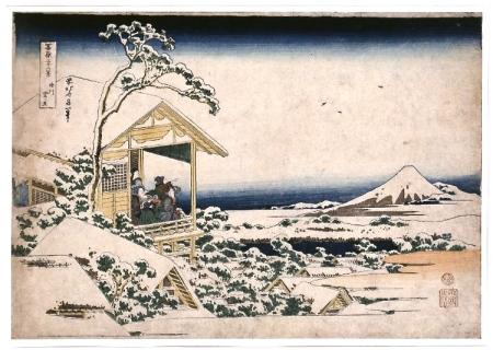 Hokusai, Snowy dawn at Koishikawa © British Museum