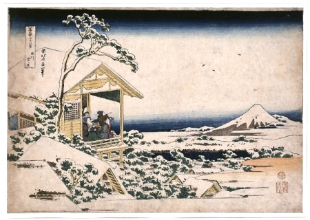 Hokusai, Snowy dawn at Koishikawa © British Museum
